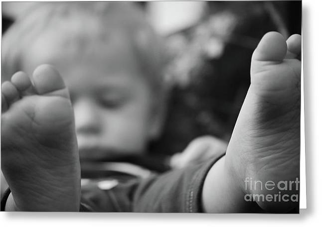 Greeting Card featuring the photograph Tiny Feet by Robert Meanor