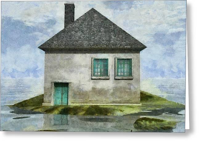 Tiny House 2 Greeting Card by Cynthia Decker