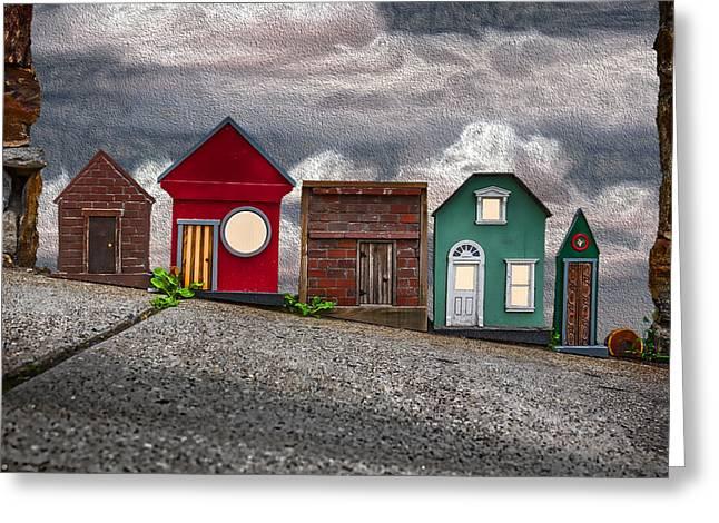 Tiny Houses On Walnut Street Greeting Card