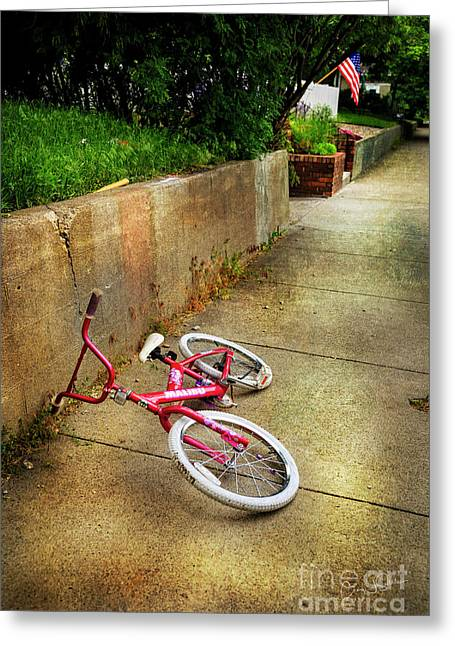 Greeting Card featuring the photograph Tiny Malibu Bicycle by Craig J Satterlee