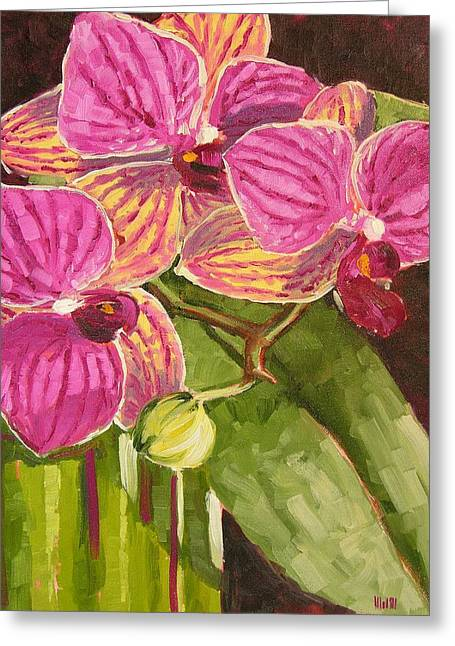 Tiny Orchid Greeting Card by Mary McInnis
