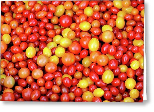Tiny Tomatoes Greeting Card by Todd Klassy