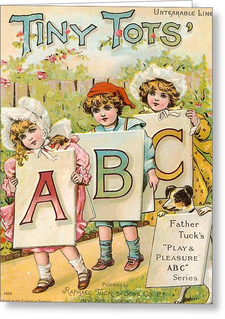 Tiny Tots Abc Book Greeting Card by Reynold Jay