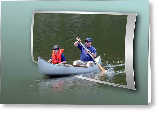 Tip A Canoe And Tyler Too Greeting Card by Brian Wallace