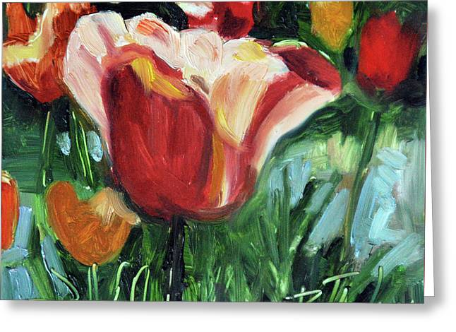 Tip Toe Thru The Tulips Greeting Card