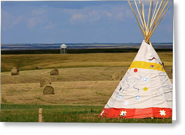 Greeting Card featuring the photograph Tipi On The High Plains by Kate Purdy