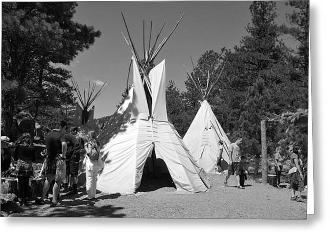 Tipis In Black Hills Greeting Card by Matt Harang