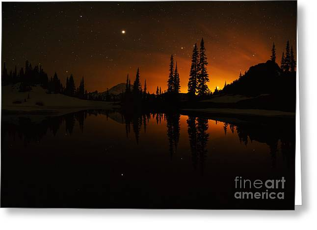 Tipsoo Amongst The Stars Greeting Card by Mike Reid