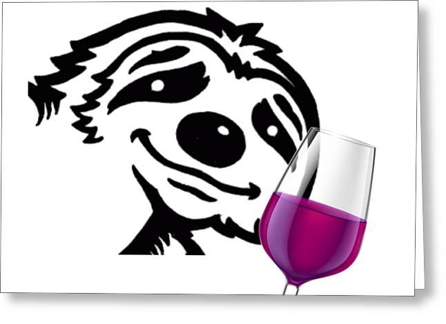 Tipsy Sloth Greeting Card