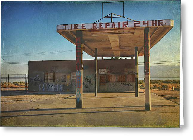 Tire Repair Greeting Card
