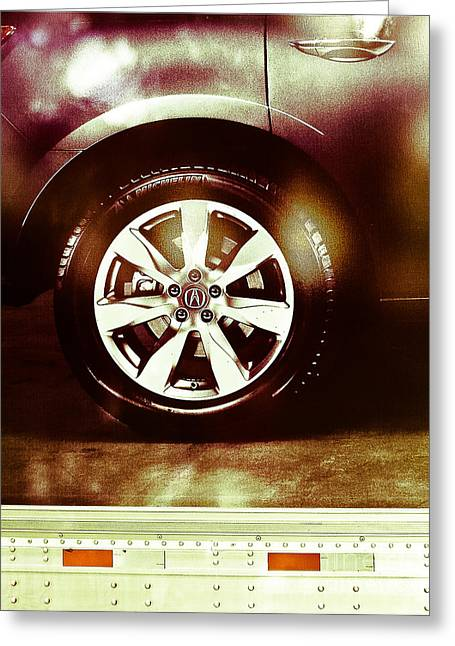 Tire Under The Moonlight Color Greeting Card