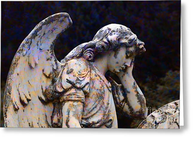 Tired Angel Greeting Card