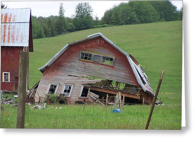 Tired Old Barn  Washington State Greeting Card by Laurie Kidd