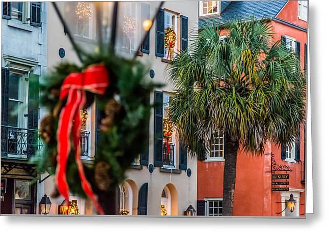 Tis The Season - Charleston Sc Greeting Card
