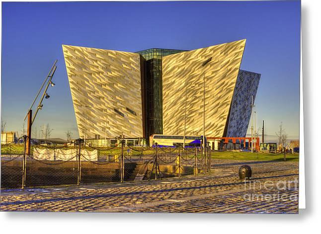 Titanic Belfast Greeting Card by Juli Scalzi
