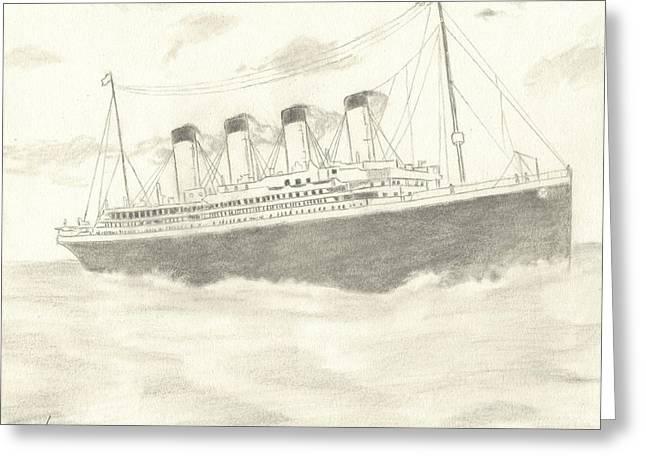 Titanic Greeting Card by Josh Bennett