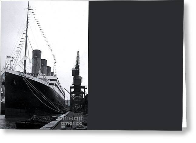 Titanic Leaving Southampton. Greeting Card by The Titanic Project