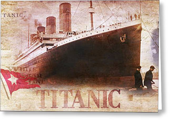 Titanic Panoramic Greeting Card by Jon Neidert