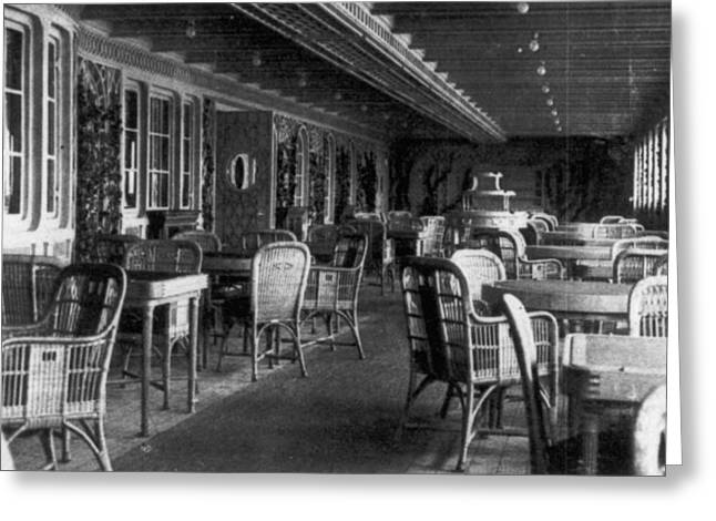 First Class Greeting Cards - Titanic: Parisian Cafe, 1912 Greeting Card by Granger