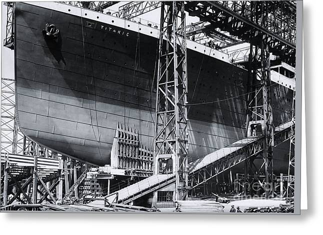 Titanic's Bow In The Gantry Greeting Card