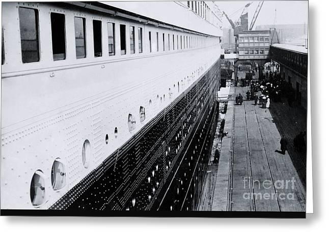 Titanic's First-class Gangway Greeting Card by The Titanic Project