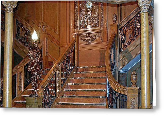 Titanics Grand Staircase Greeting Card by DigiArt Diaries by Vicky B Fuller