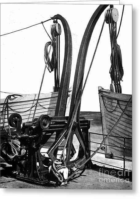 Titanic's Lifeboats. Greeting Card by The Titanic Project