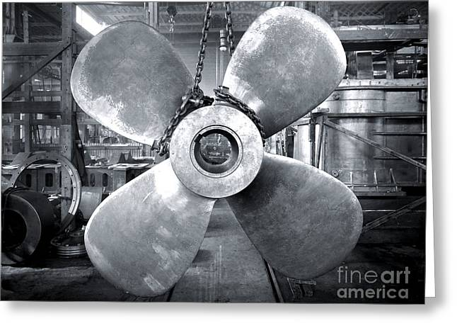 Titanic's Propellers Greeting Card by The Titanic Project