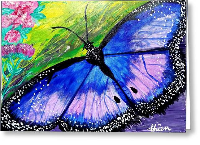Titanium Butterfly Greeting Card