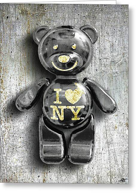 Titanium Teddy Greeting Card by Tony Rubino