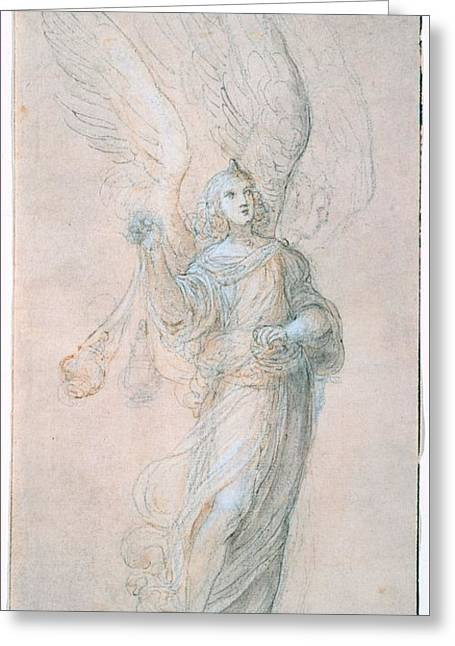 Title An Angel Swinging A Censer Greeting Card by MotionAge Designs