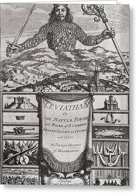 Title Page To Leviathan Or The Matter Greeting Card