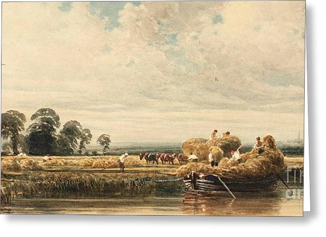 Title The Trent Near Burton Greeting Card by MotionAge Designs