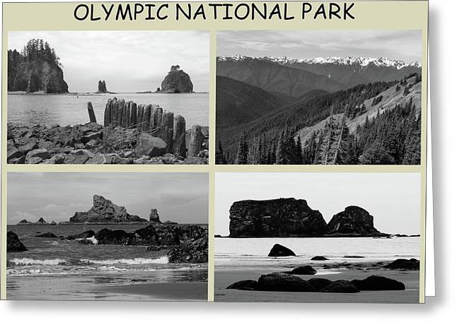 Titled Olympic Park Collage Greeting Card by Dan Sproul