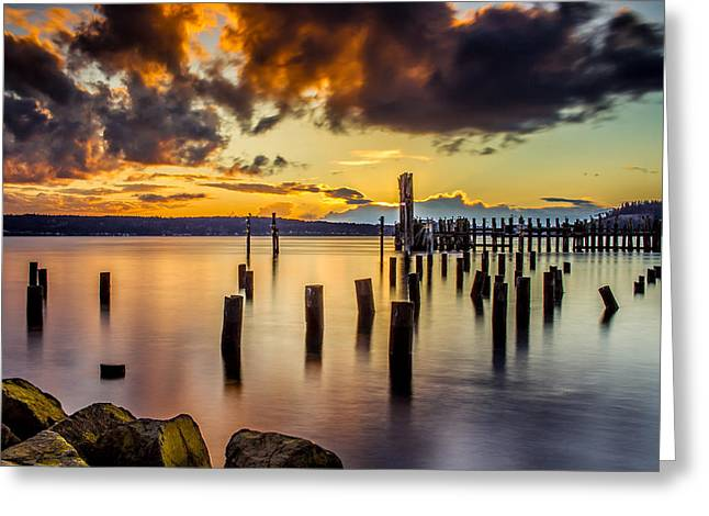 Titlow Beach Sunset Greeting Card