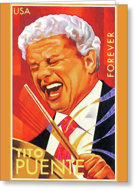 Tito Puente Greeting Card by Lanjee Chee