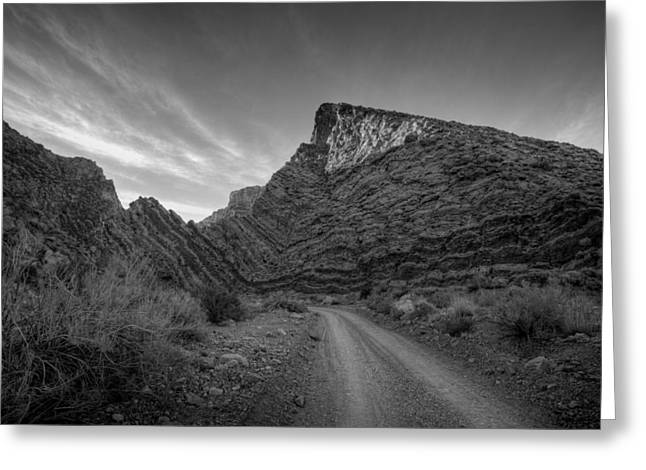 Titus Canyon Road Greeting Card by Peter Tellone