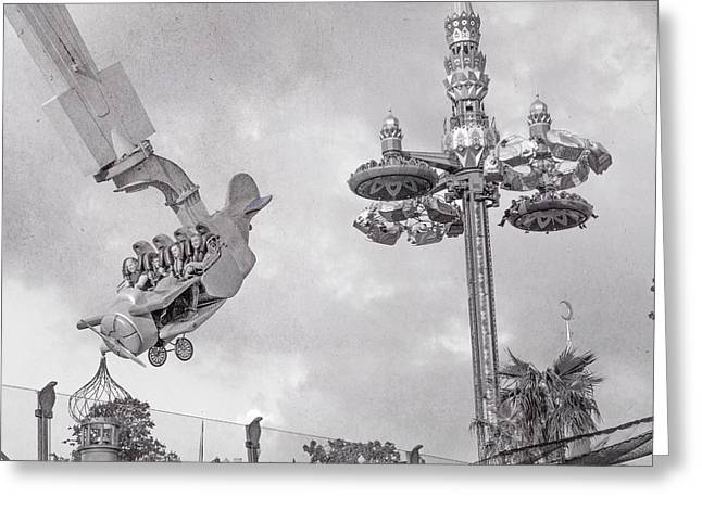 Tivoli Fly And Spin  Greeting Card by Betsy Knapp