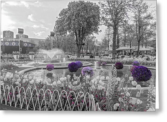 Tivoli Gardens Singled Out Greeting Card by Betsy Knapp