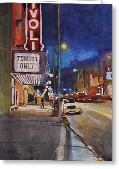 Tivoli Theatre Greeting Card by Spencer Meagher
