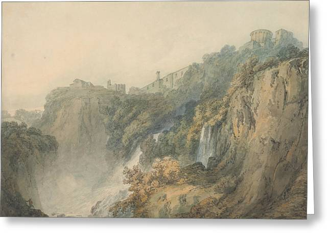 Tivoli With The Temple Of The Sybil And The Cascades Greeting Card by Joseph Mallord William Turner
