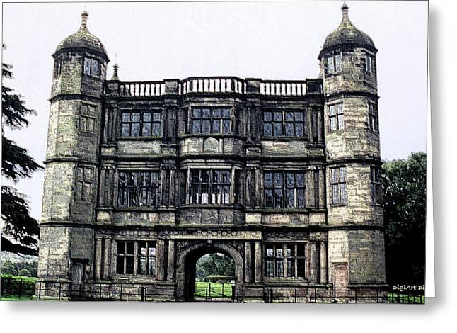 Tixall Gatehouse Circa 1580 Greeting Card by DigiArt Diaries by Vicky B Fuller