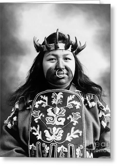 Tlingit Native American, C1906 Greeting Card