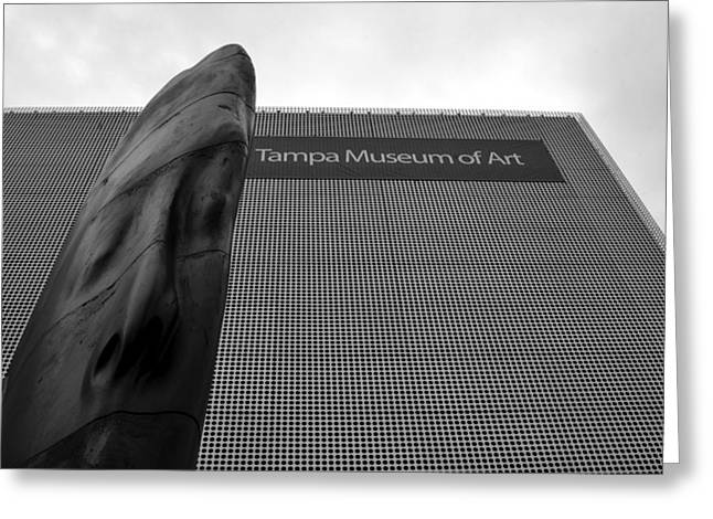 Greeting Card featuring the photograph Tampa Museum Of Art Work A by David Lee Thompson