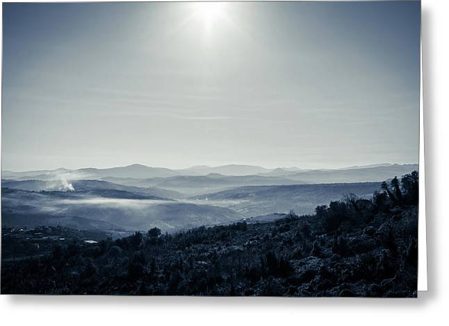To A Peaceful Valley Greeting Card by Andrea Mazzocchetti