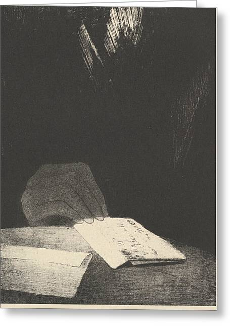 To All Appearances, It Was A Hand Of Flesh And Blood Just Like My Own Greeting Card by Odilon Redon