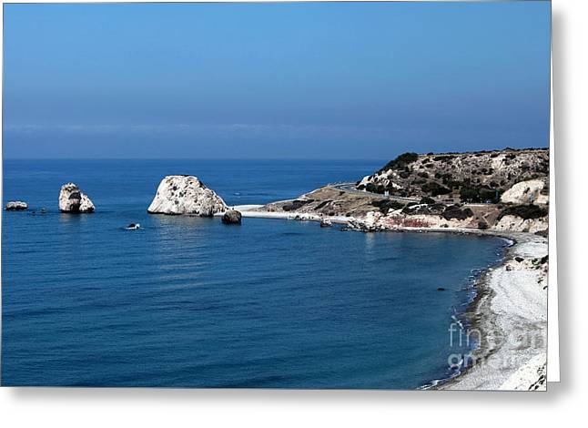 To Aphrodite's Rocks Greeting Card by John Rizzuto
