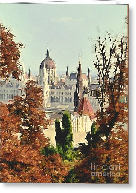 To Budapest With Love Greeting Card