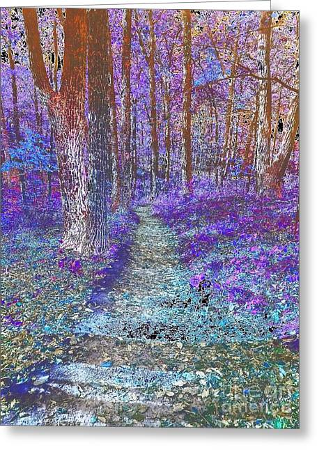 To Grandmothers House - Abstract  Greeting Card by Scott D Van Osdol