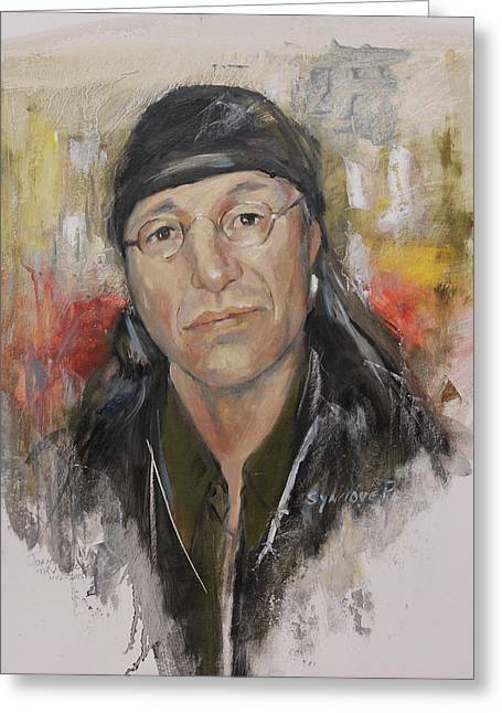 To Honor John Trudell Greeting Card